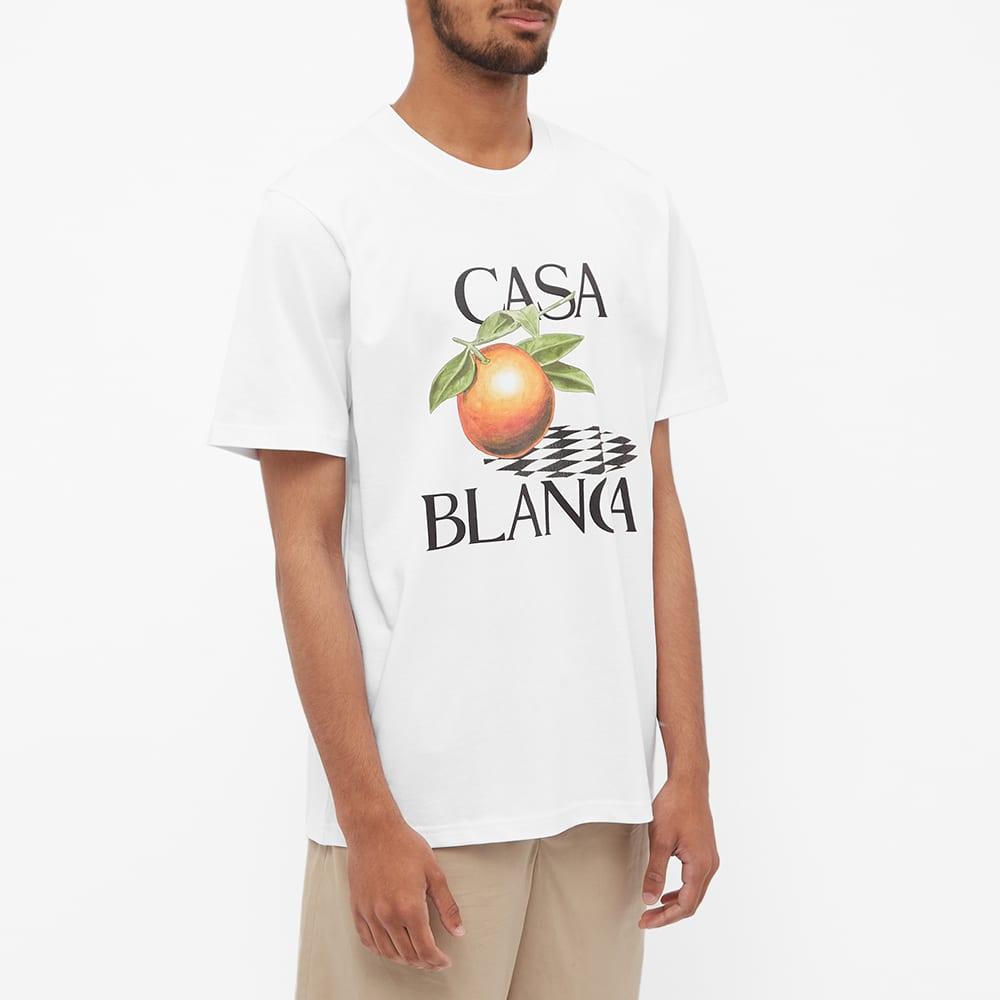 Casablanca Orange Logo Tee - White
