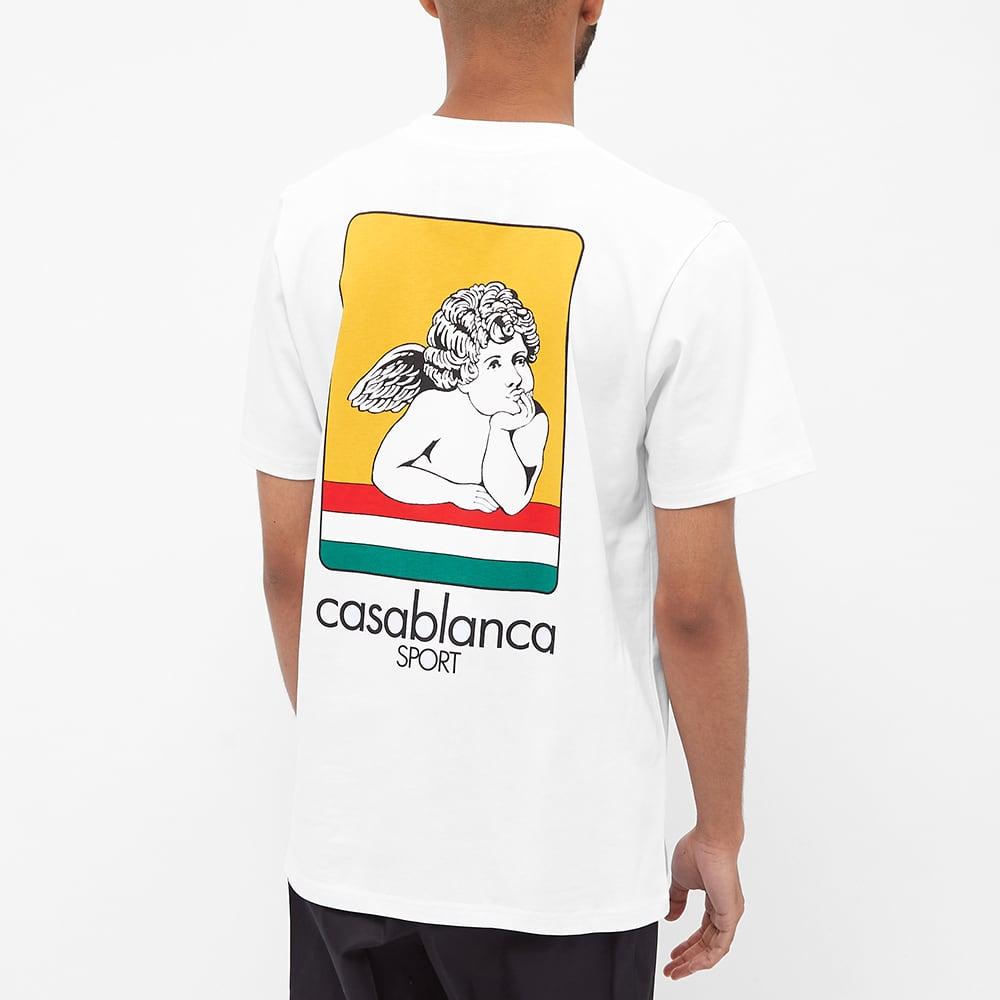 Casablanca Racing Cherub Tee - White