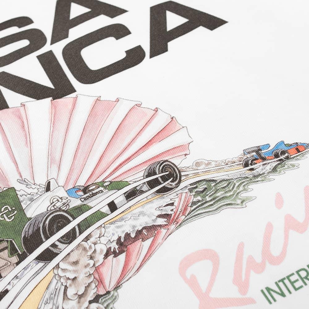 Casablanca Racing Shell Tee - White