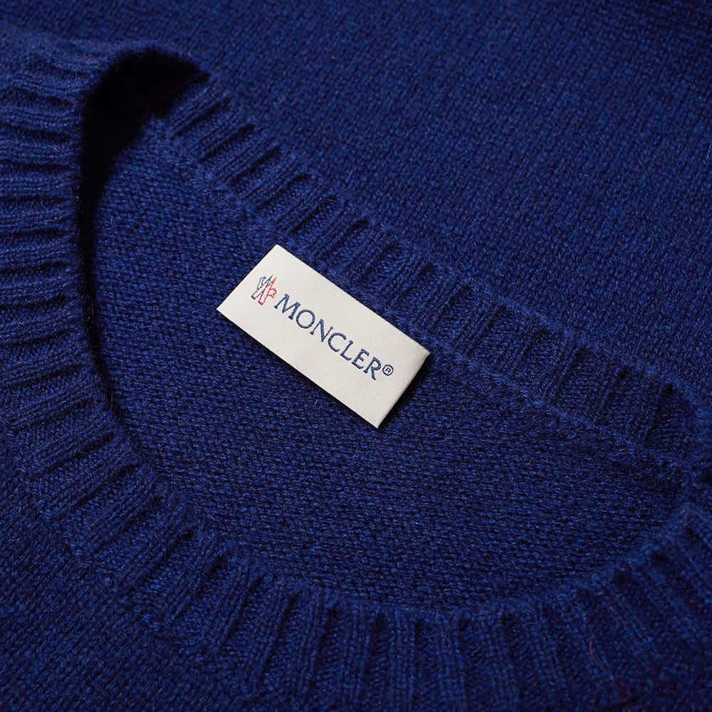 Moncler Logo Instarsia Crew Knit - Navy, Red & White