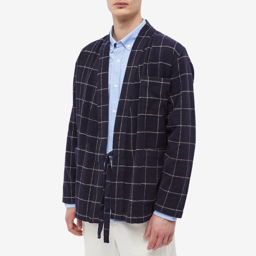 Universal Works Check Wool Kyoto Work Jacket - Navy