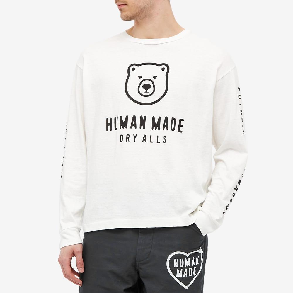 Human Made Long Sleeve Bear Tee - White