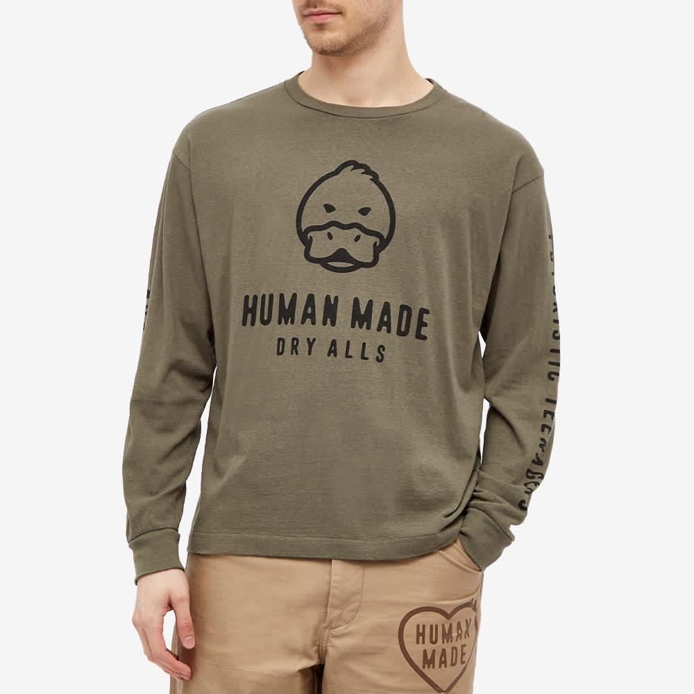 Human Made Long Sleeve Duck Tee - Olive Drab