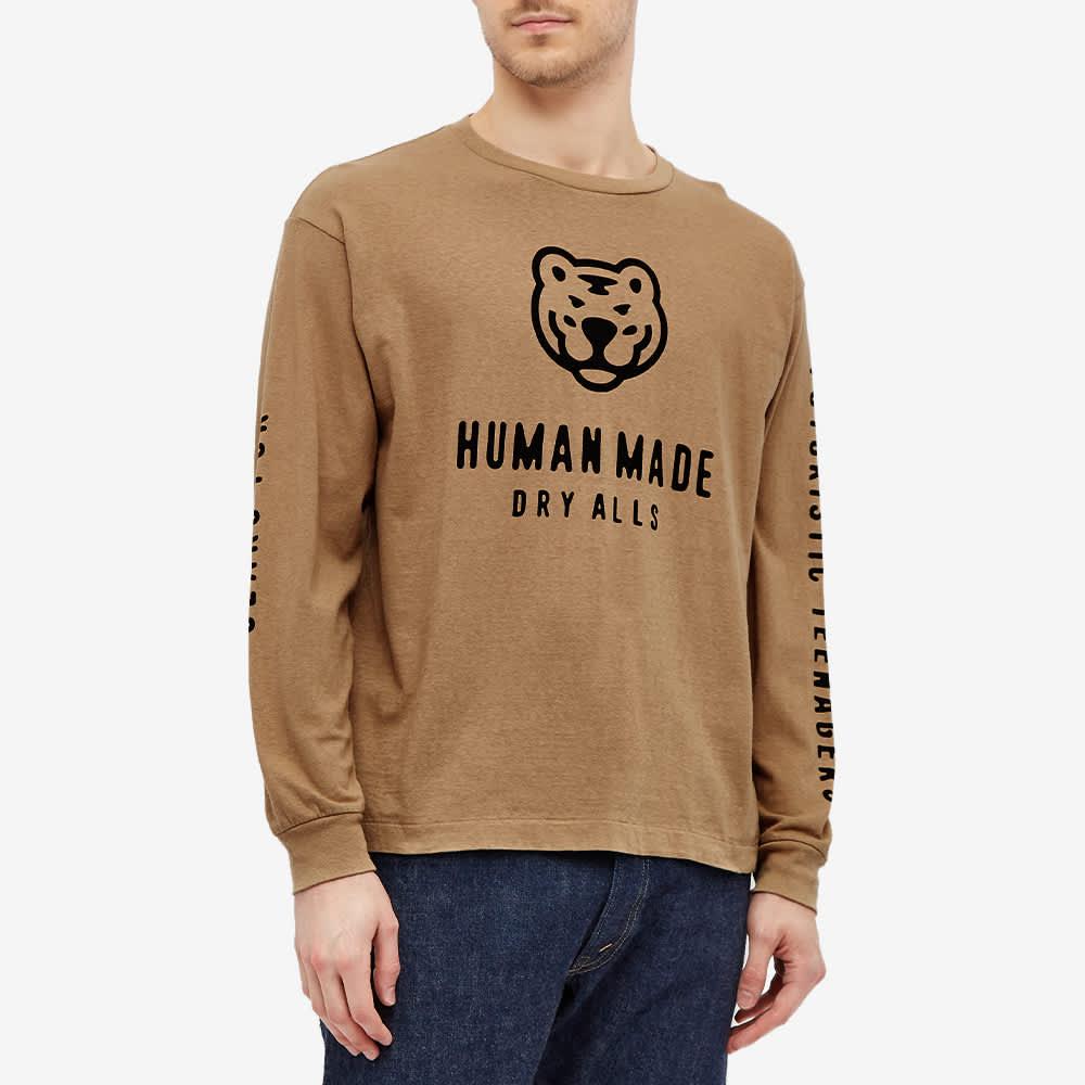 Human Made Long Sleeve Tiger Tee - Beige