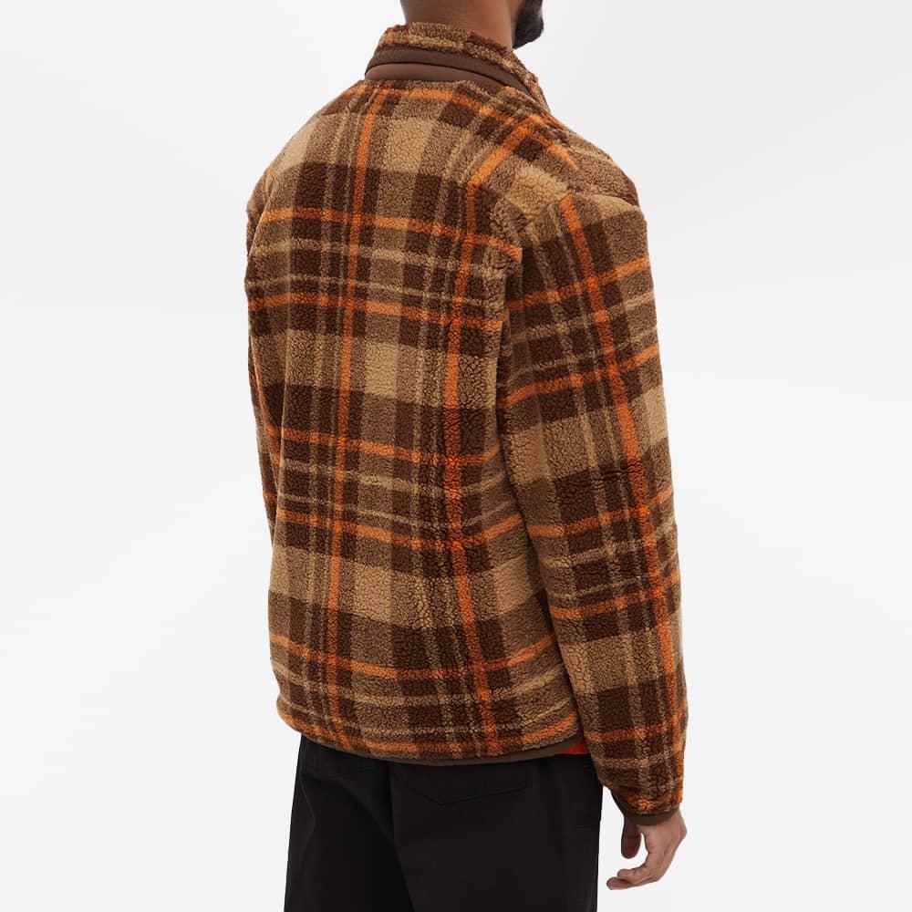 Universal Works Lancaster Check Mountain Fleece Jacket - Brown