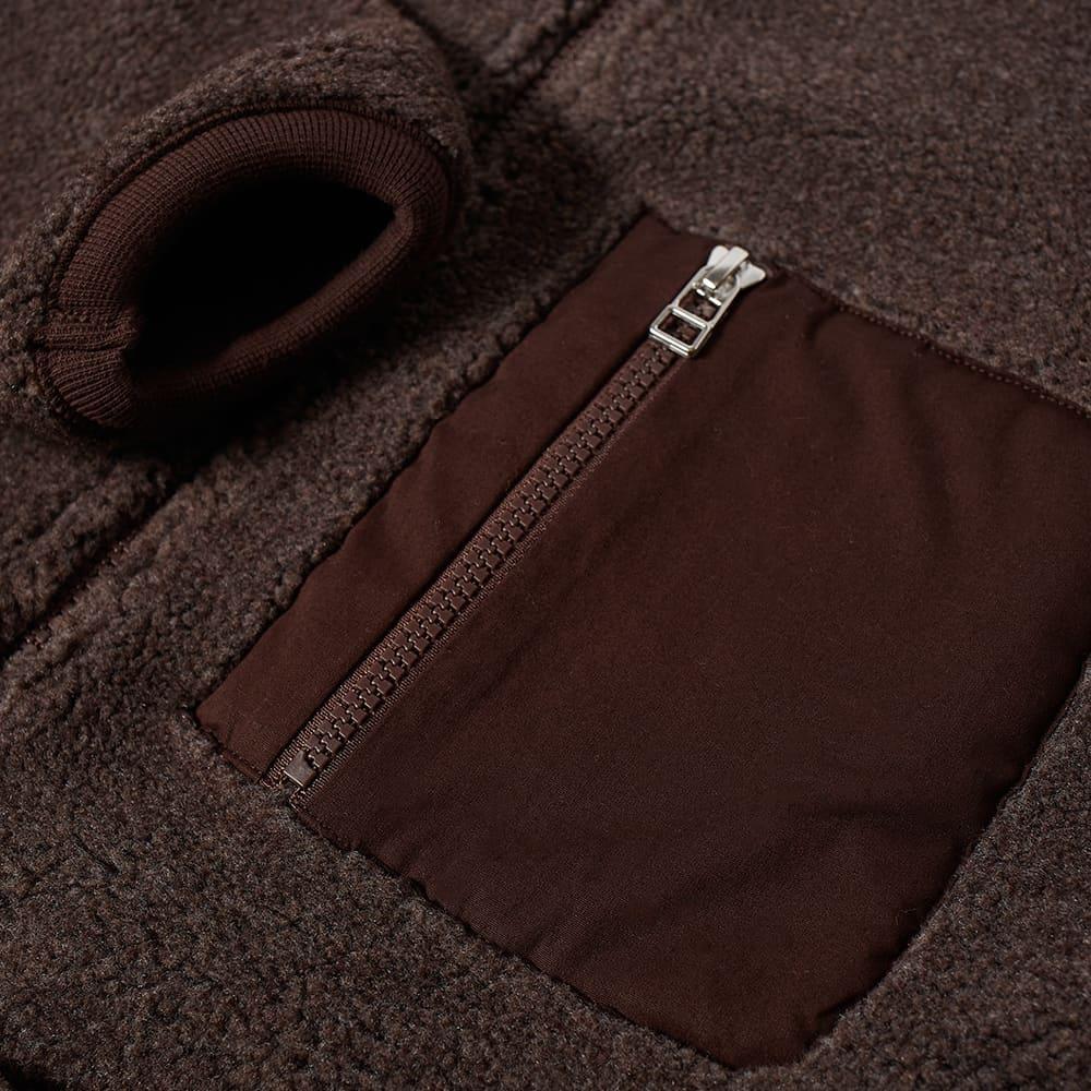 Universal Works Sherpa Fleece Zip Jacket - Brown
