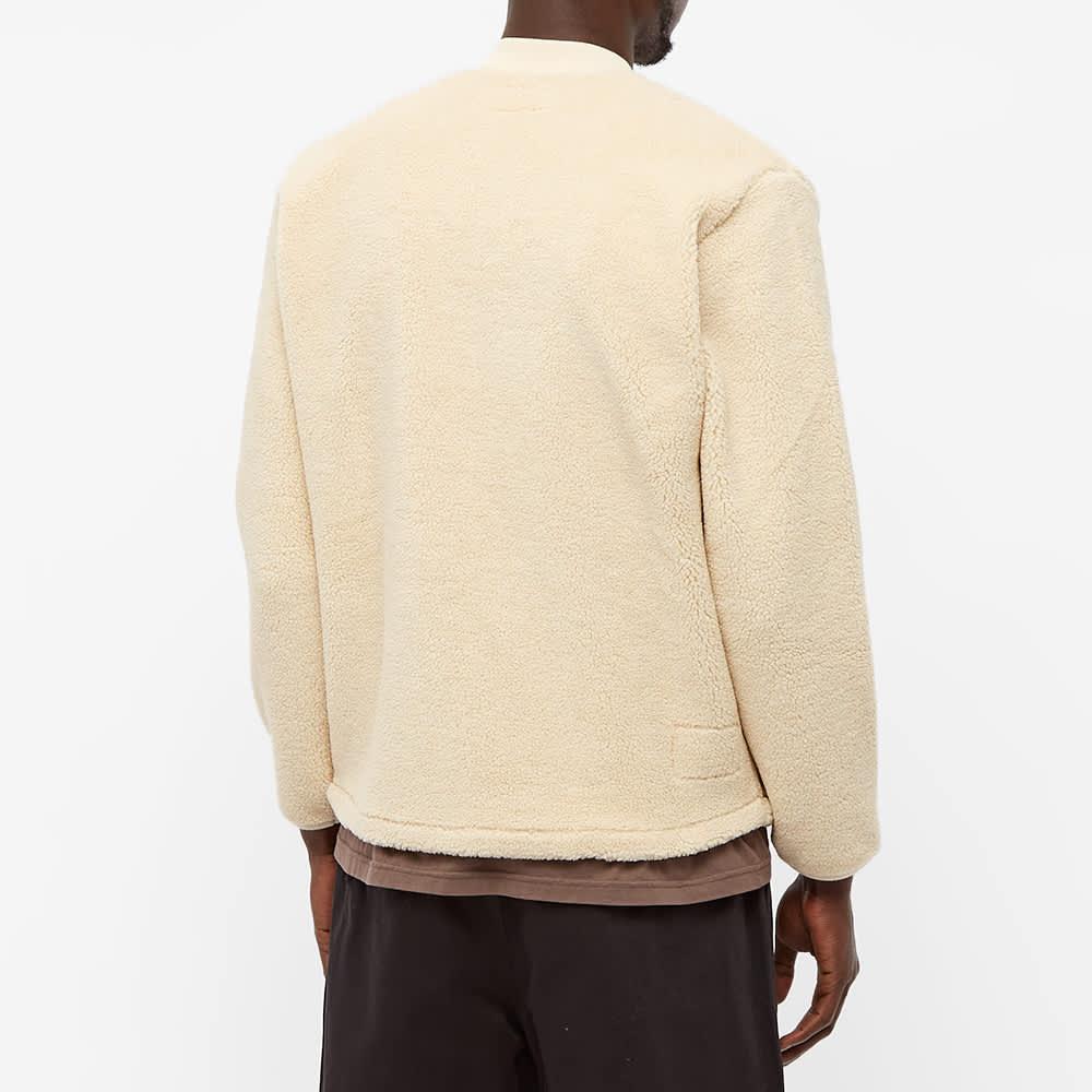 Universal Works Sherpa Fleece Zip Jacket - Ecru