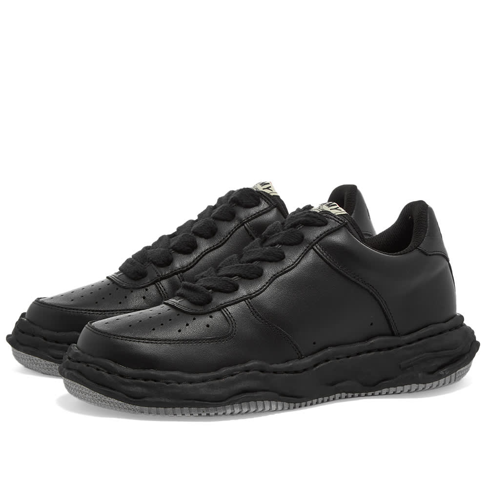 Maison MIHARA YASUHIRO Wayne Original Low Top Leather Sneaker - Black
