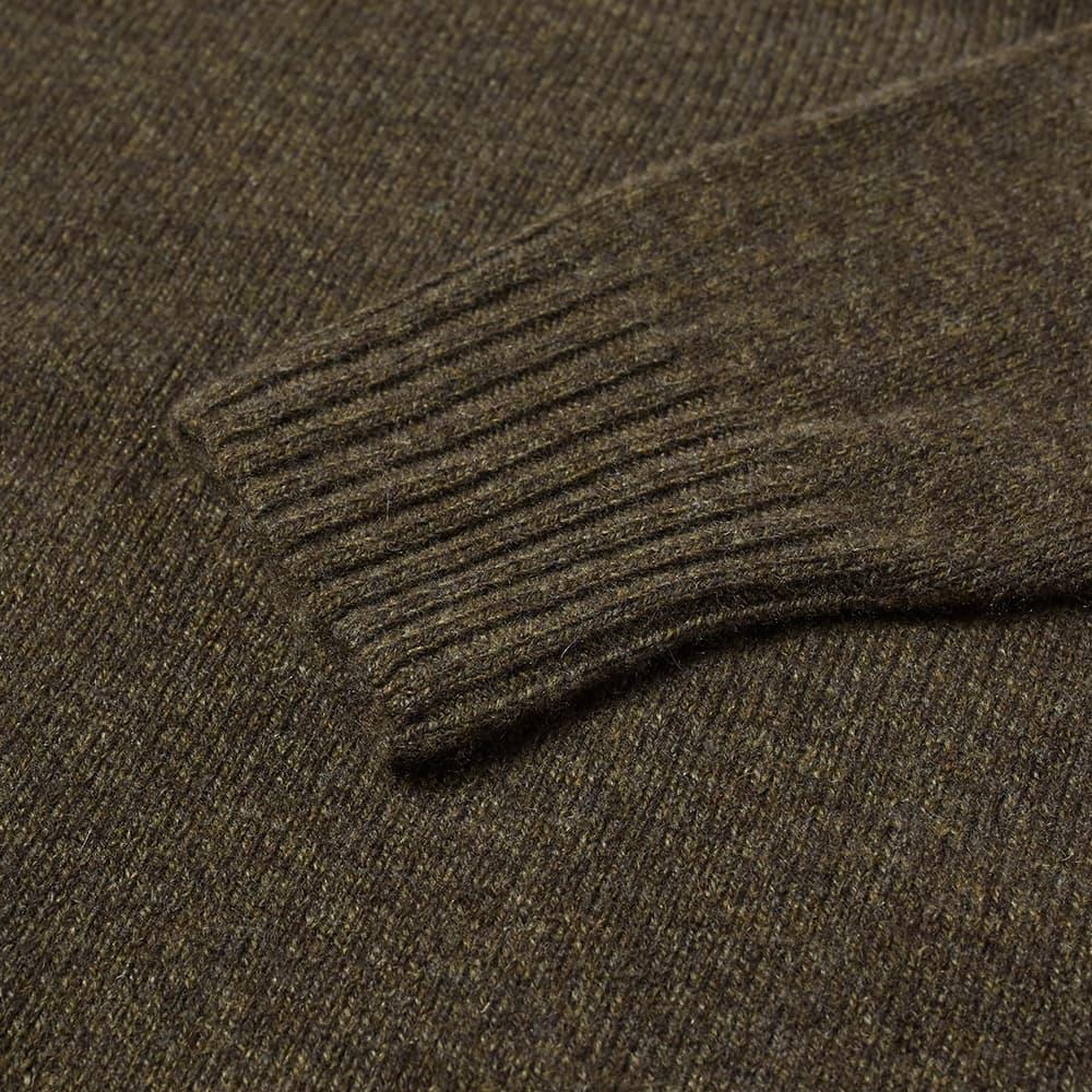 Margaret Howell Saddle Neck Crew Knit - Bark Twist