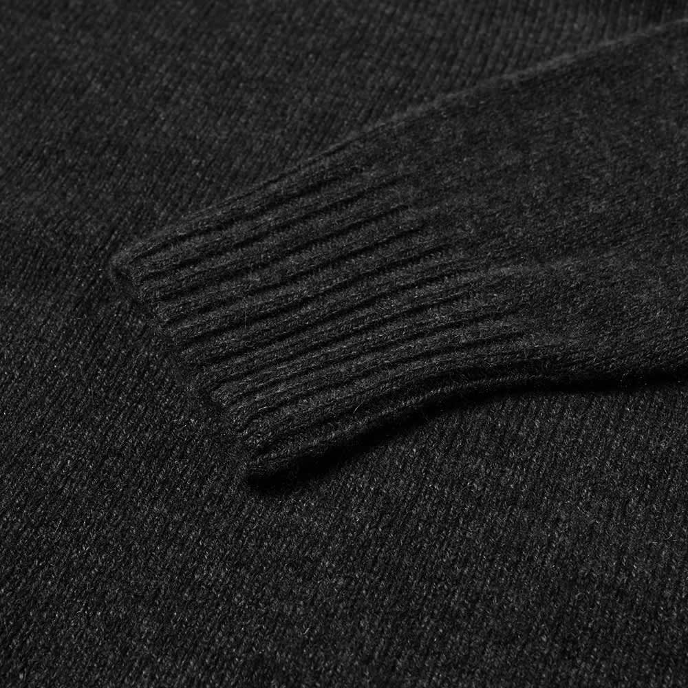 Margaret Howell Saddle Neck Crew Knit - Graphite Twist