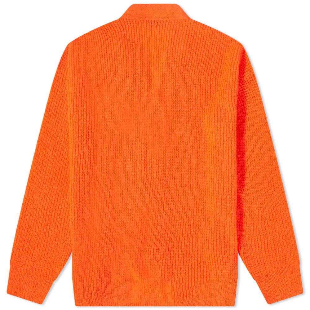 Aries Waffle Knit Cardigan - Red
