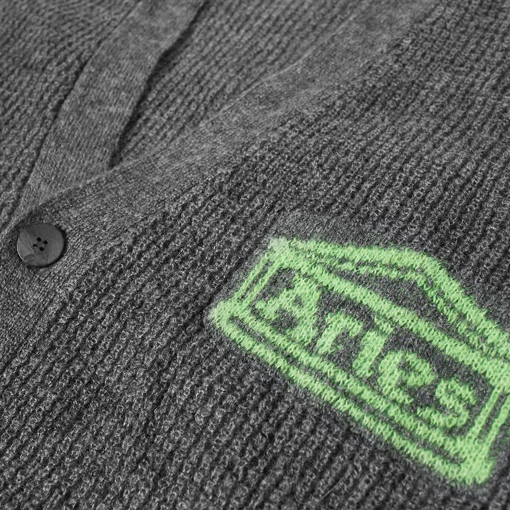 Aries Waffle Knit Cardigan - Slate