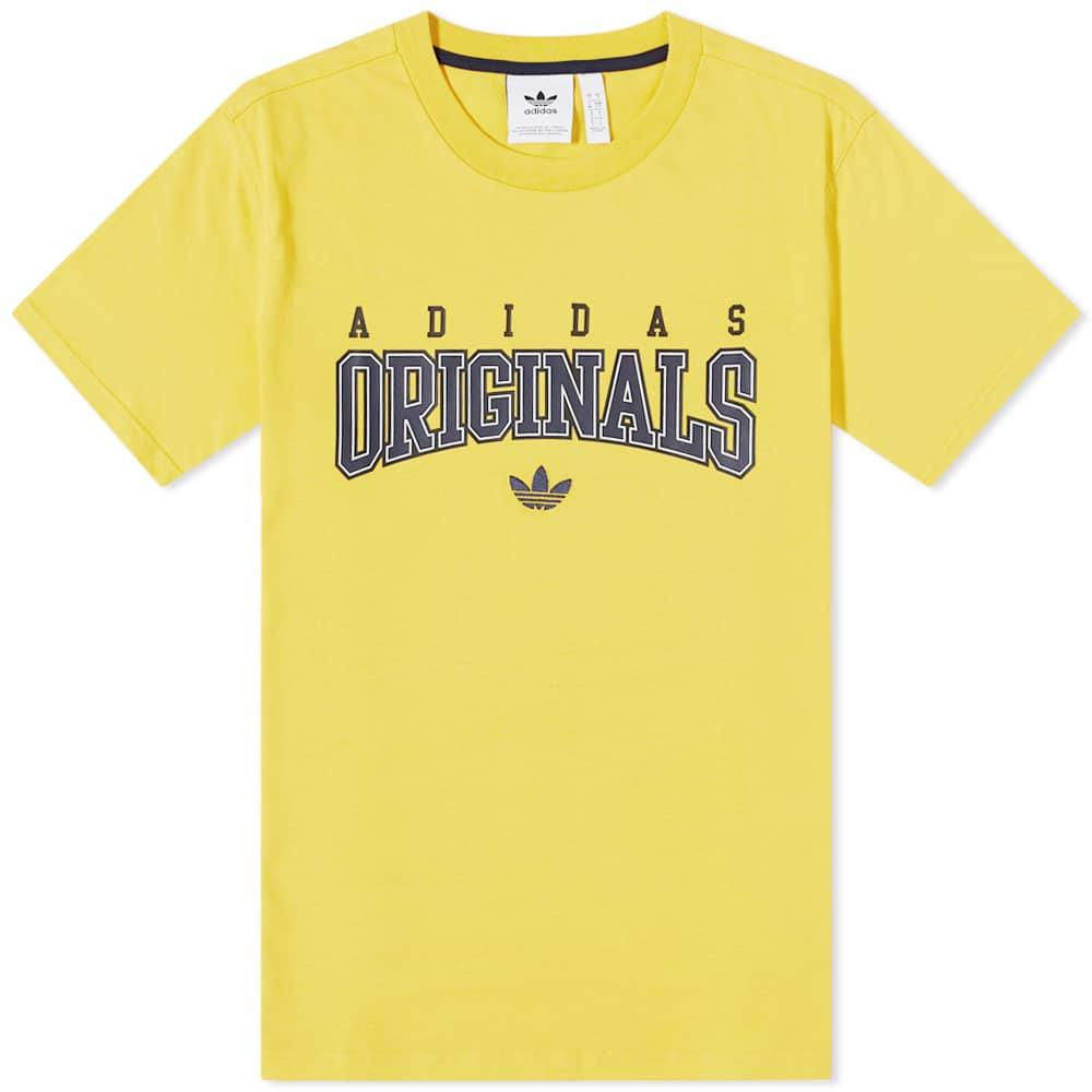 Adidas Script Tee - Yellow