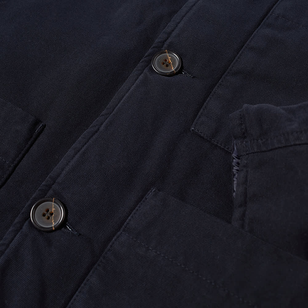 Universal Works Quilted Canvas Simple Bakers Jacket - Deep Blue