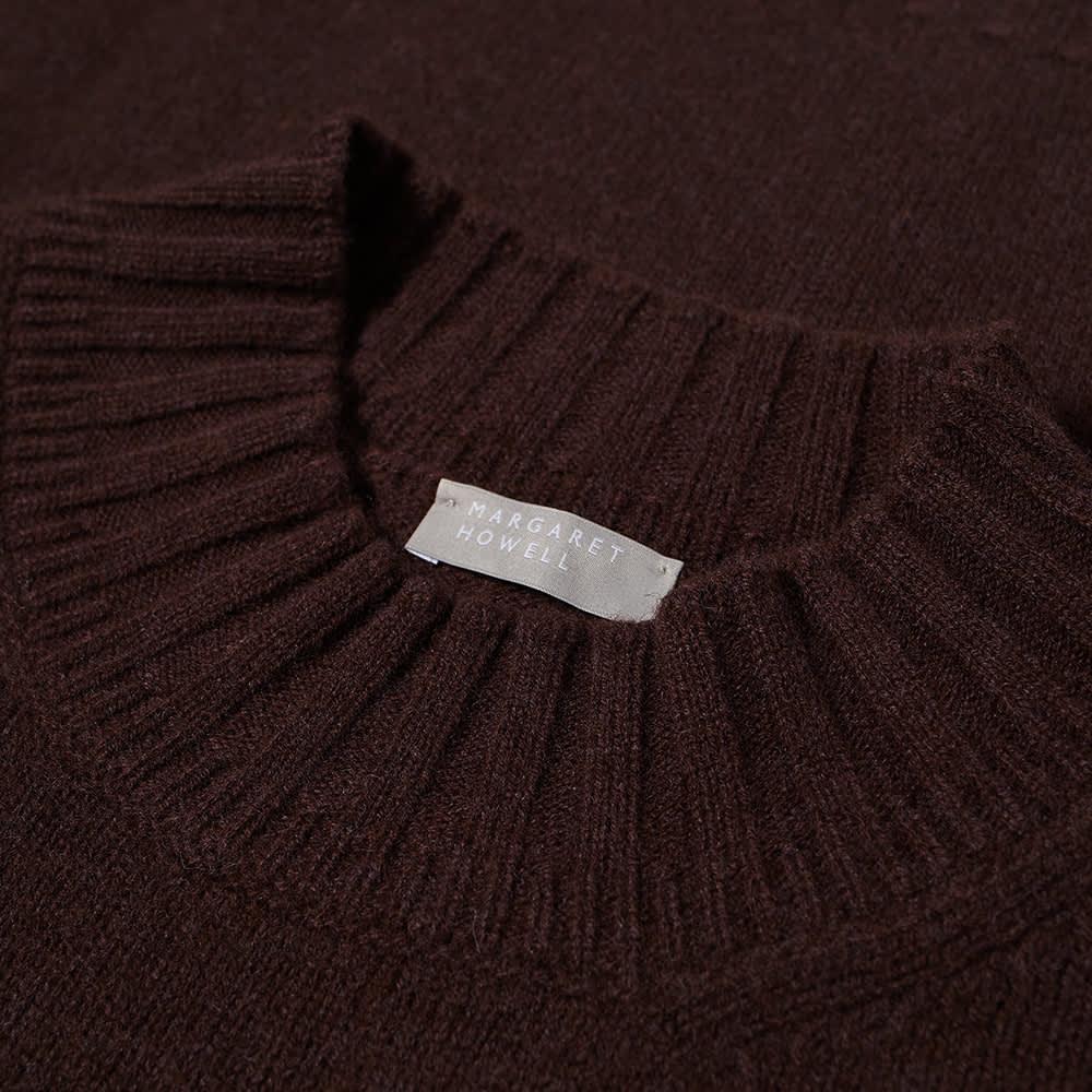 Margaret Howell Single Pocket Crew Knit - Mahogany