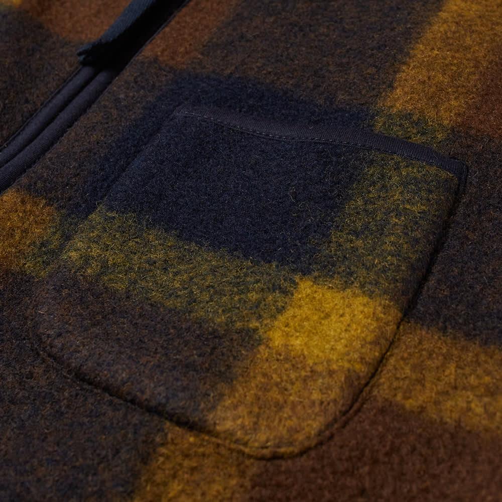 Universal Works Plaid Zip Gilet - Navy & Yellow