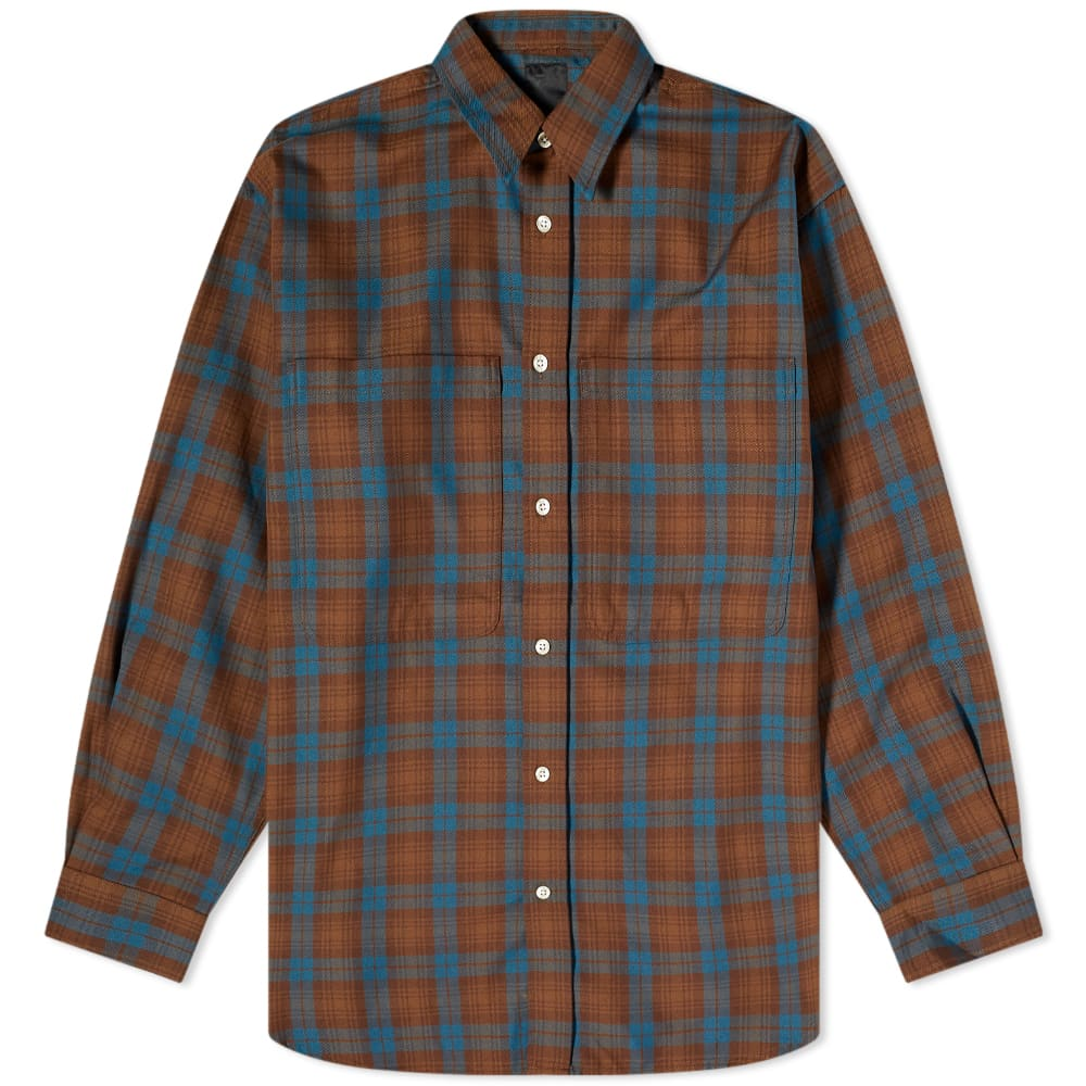 DAIWA Tech Flannel Worker Shirt - Brown Check