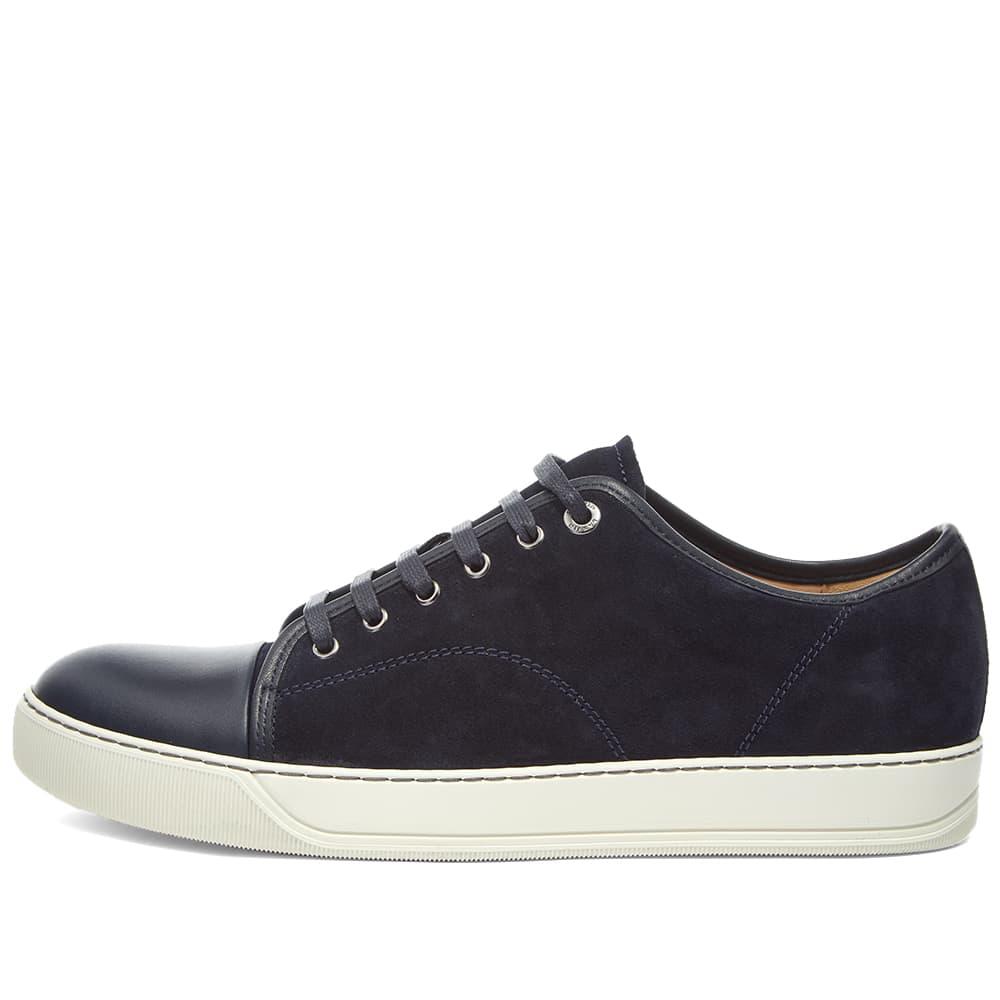 Lanvin Toe Cap Sneaker - Navy