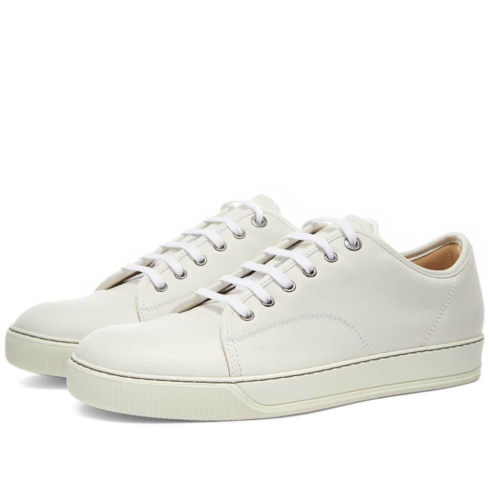 Lanvin DBB1 Leather Toe Cap Sneaker - White