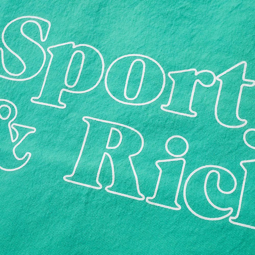Sporty & Rich Fun Logo Tote - Junior Mint & White