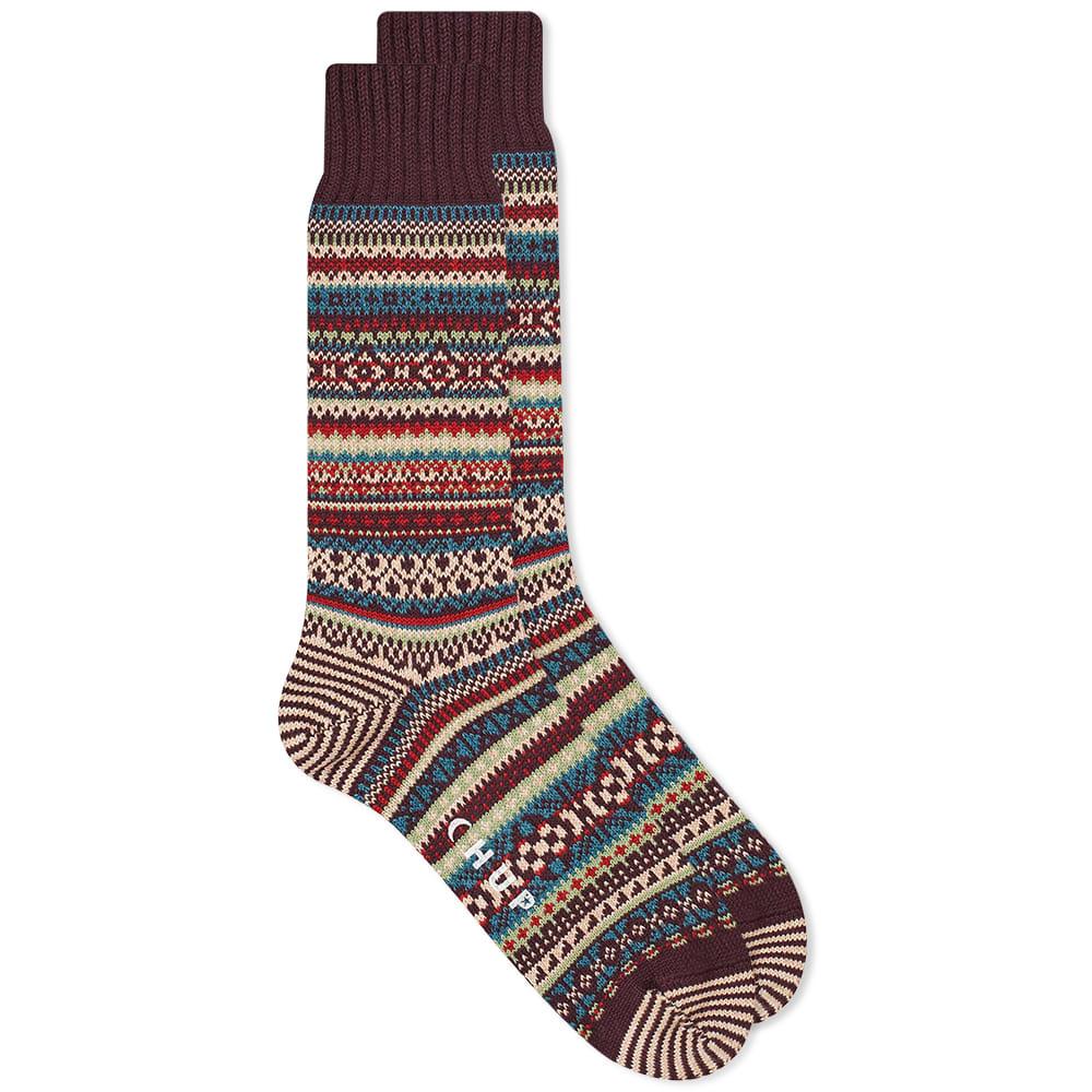 Chup Baile Sock - Burgundy