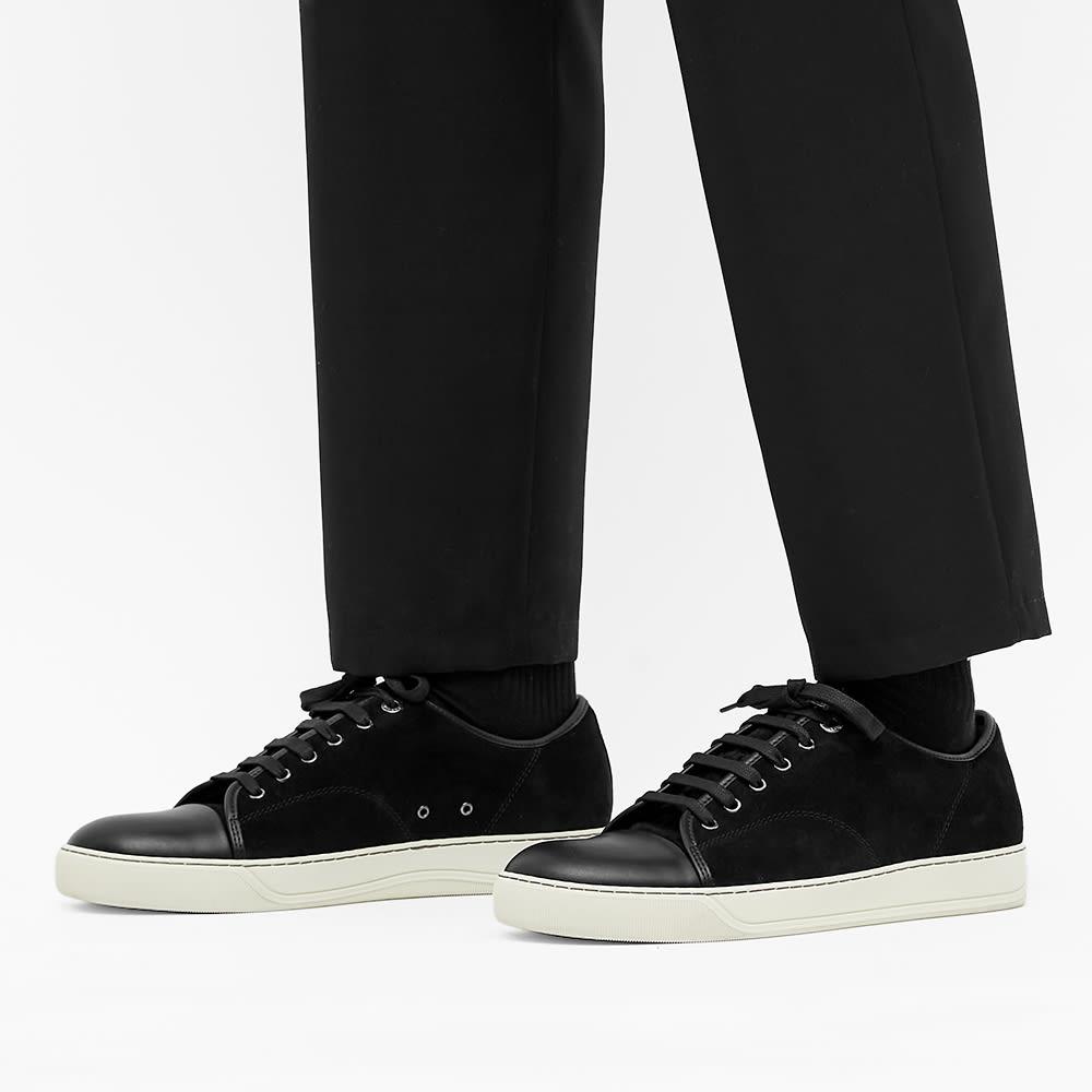 Lanvin Toe Cap Sneaker - Black