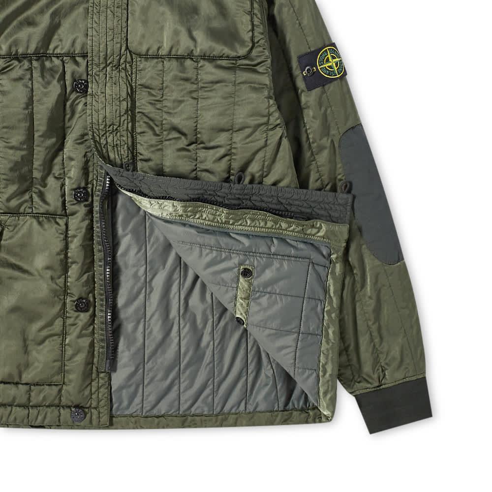 Stone Island Nylon Raso Quilted Jacket - Sage