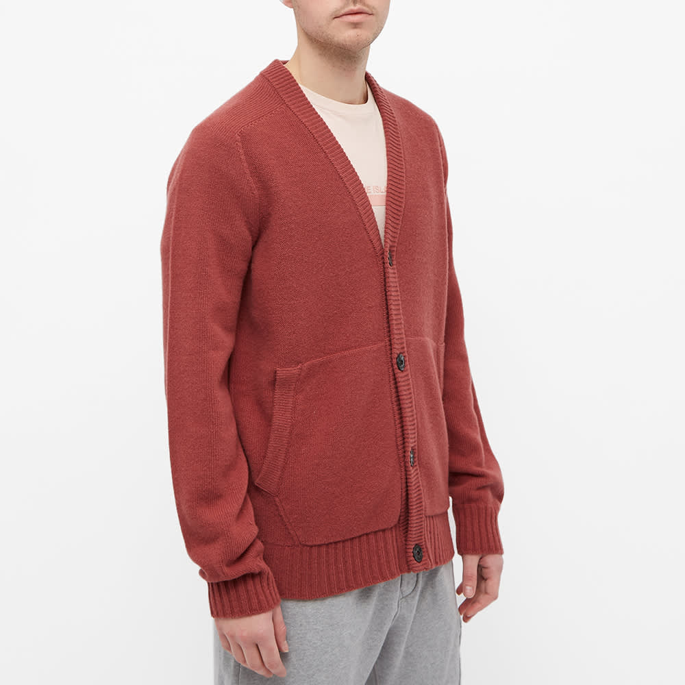 Stone Island Winter Cotton Cardigan - Brick Red