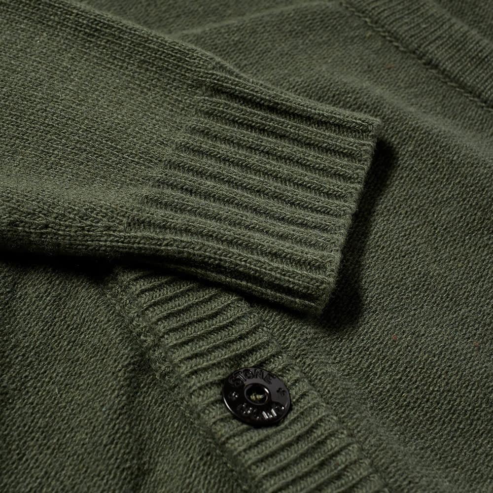 Stone Island Winter Cotton Cardigan - Sage