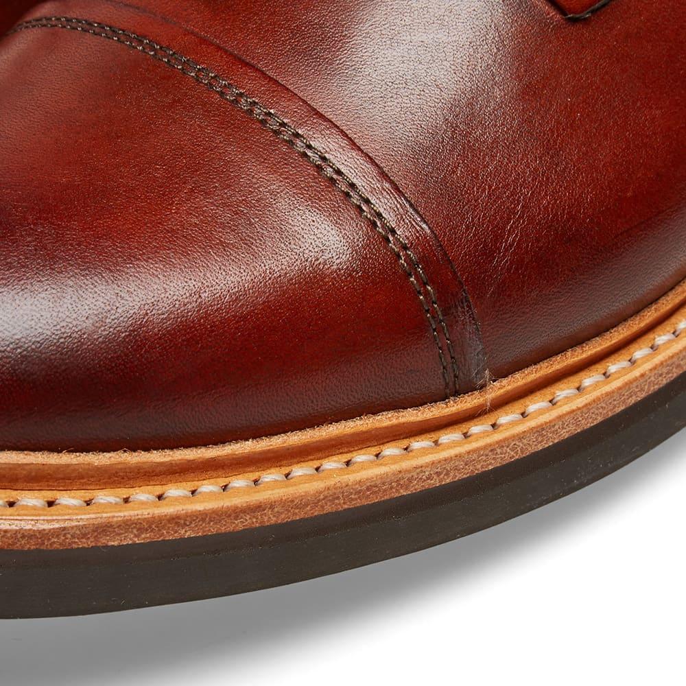Grenson Joseph Commando Sole Toe Cap Boot - Tan Hand Painted