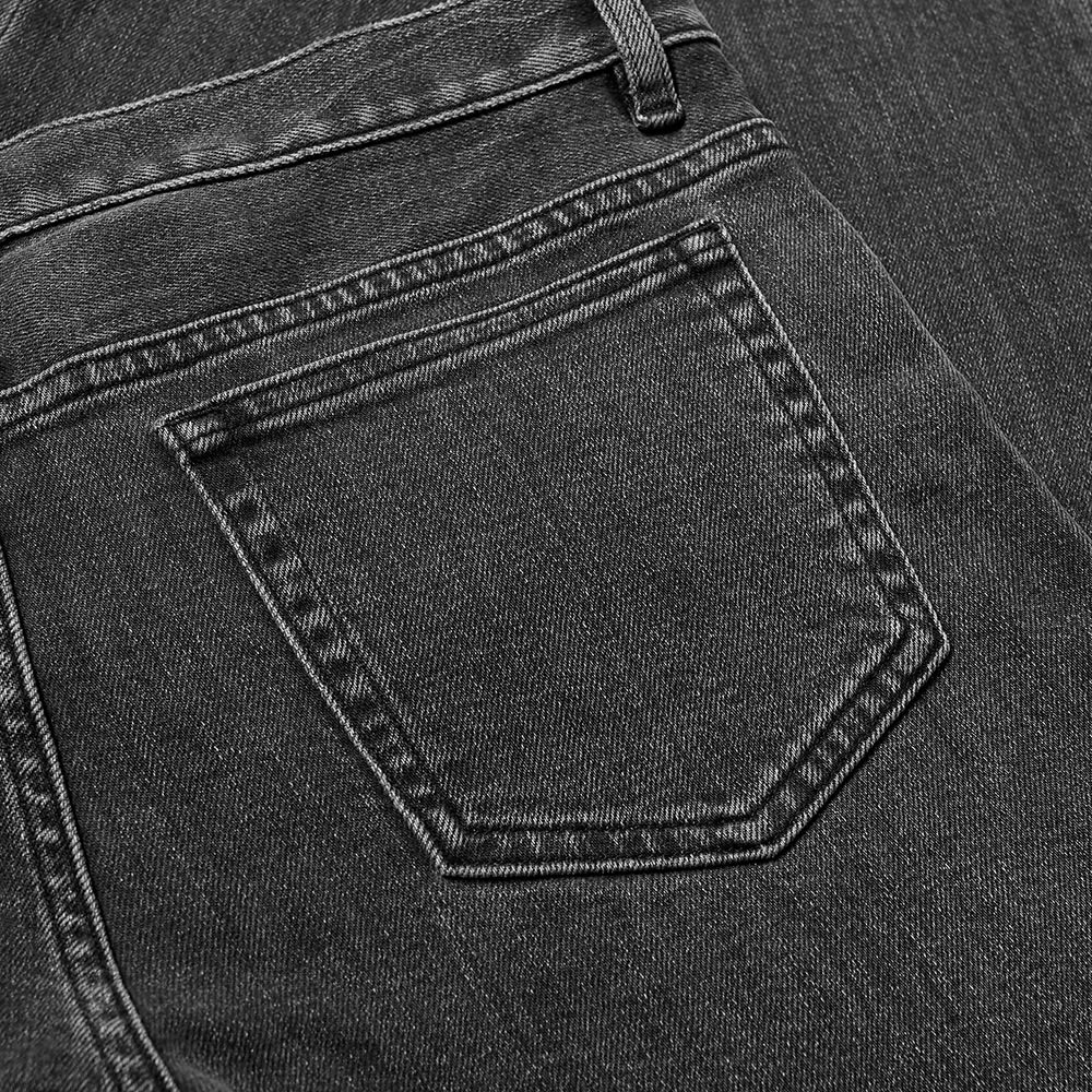 A.P.C. Petit Standard Jean - Washed Black Stretch