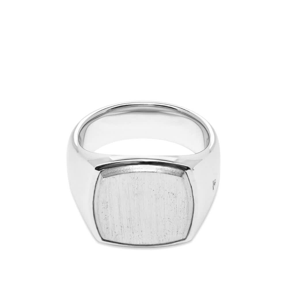 Tom Wood Cushion Ring - Silver Top
