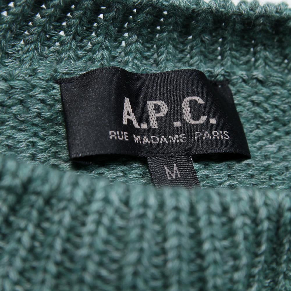 A.P.C. Round Neck Sweater - Green