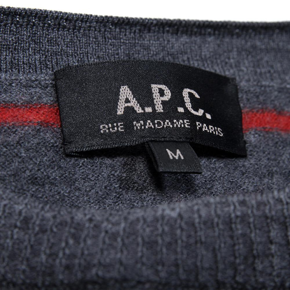 A.P.C. Striped Sweater - Grey & Red