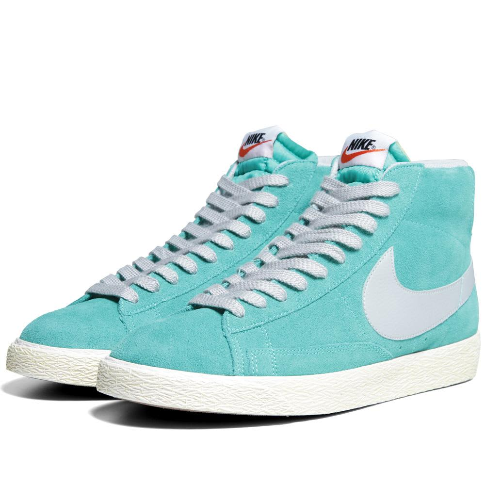 Nike Blazer Mid PRM VNTG Suede - Atomic Teal & Strata Grey