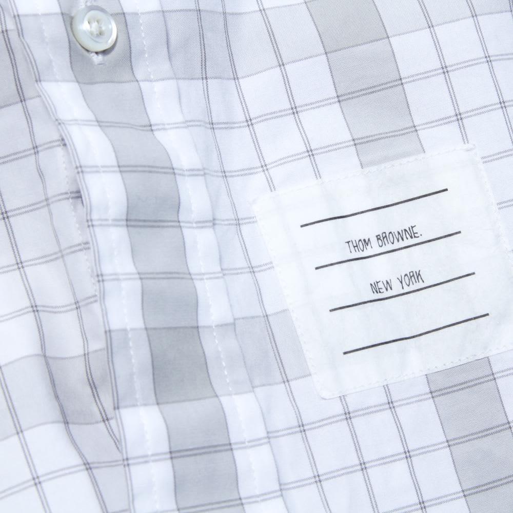 Thom Browne Classic Button Down Shirt - Grey & White Poplin Check