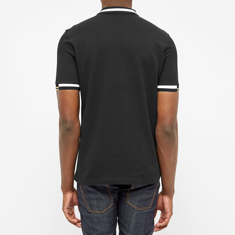 Fred Perry Abstract Tipped Polo - Black