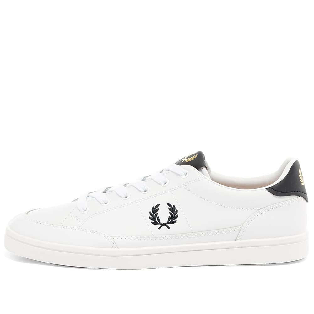 Fred Perry Deuce Leather Sneaker - White & Navy