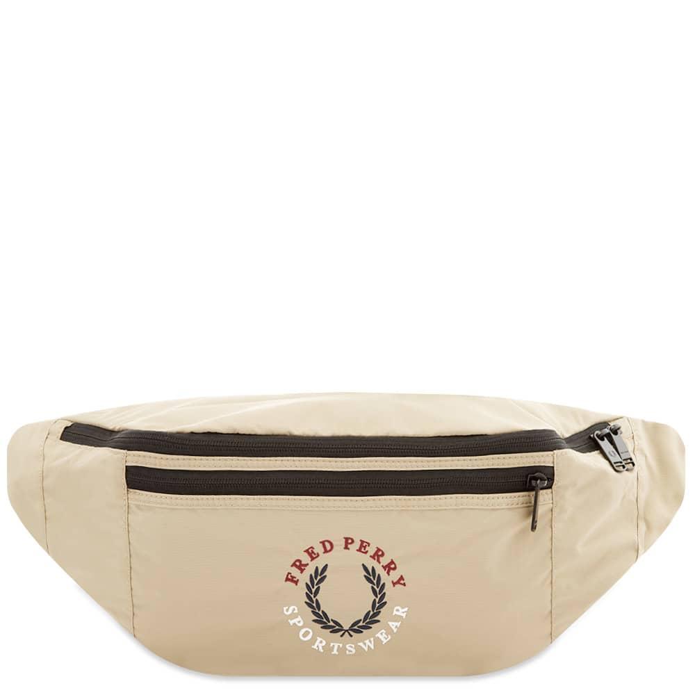 Fred Perry Laurel Logo Waist Bag - Stone