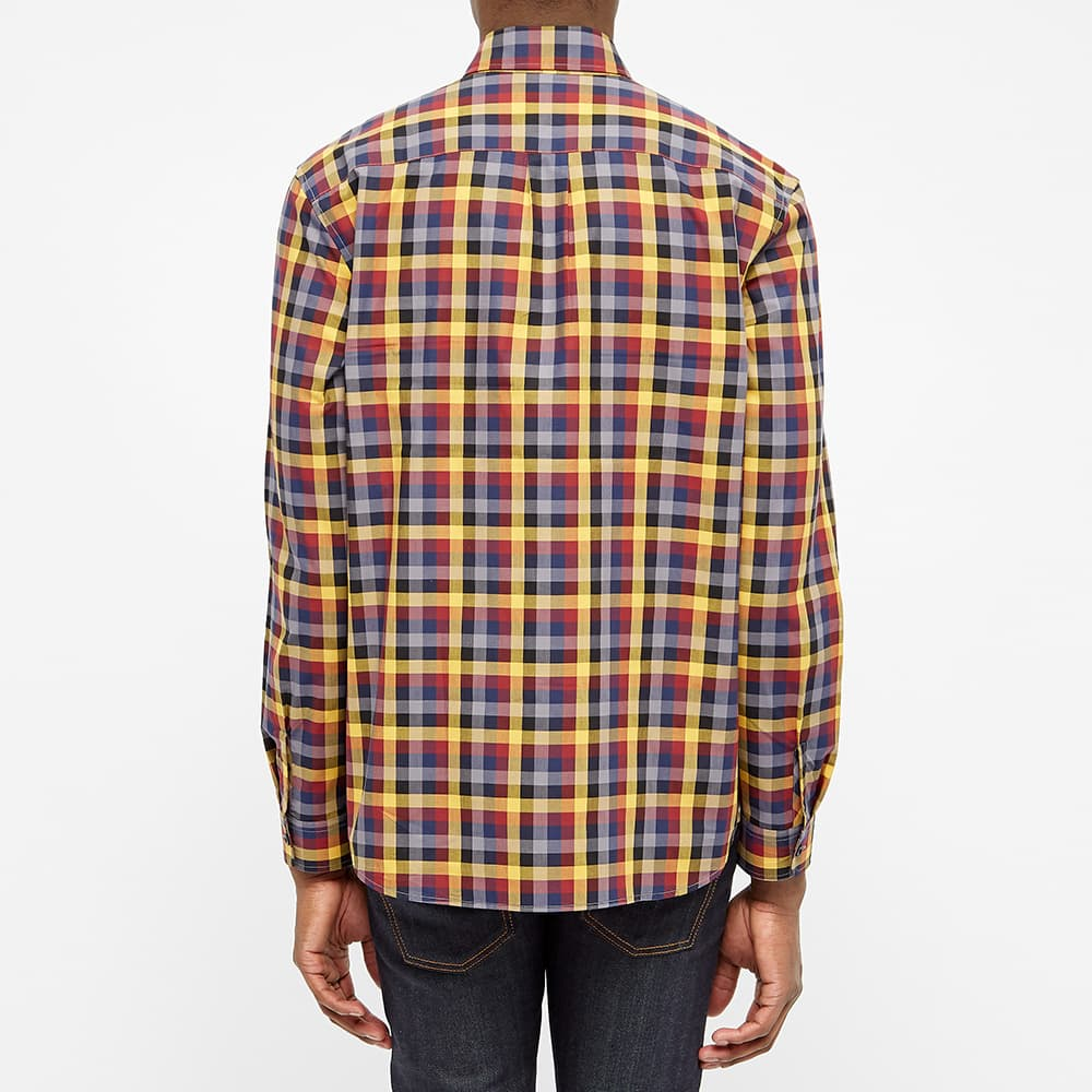 Fred Perry Multi Check Gingham Shirt - Gold