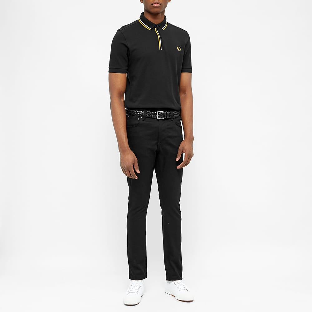 Fred Perry Tipped Placket Polo - Black