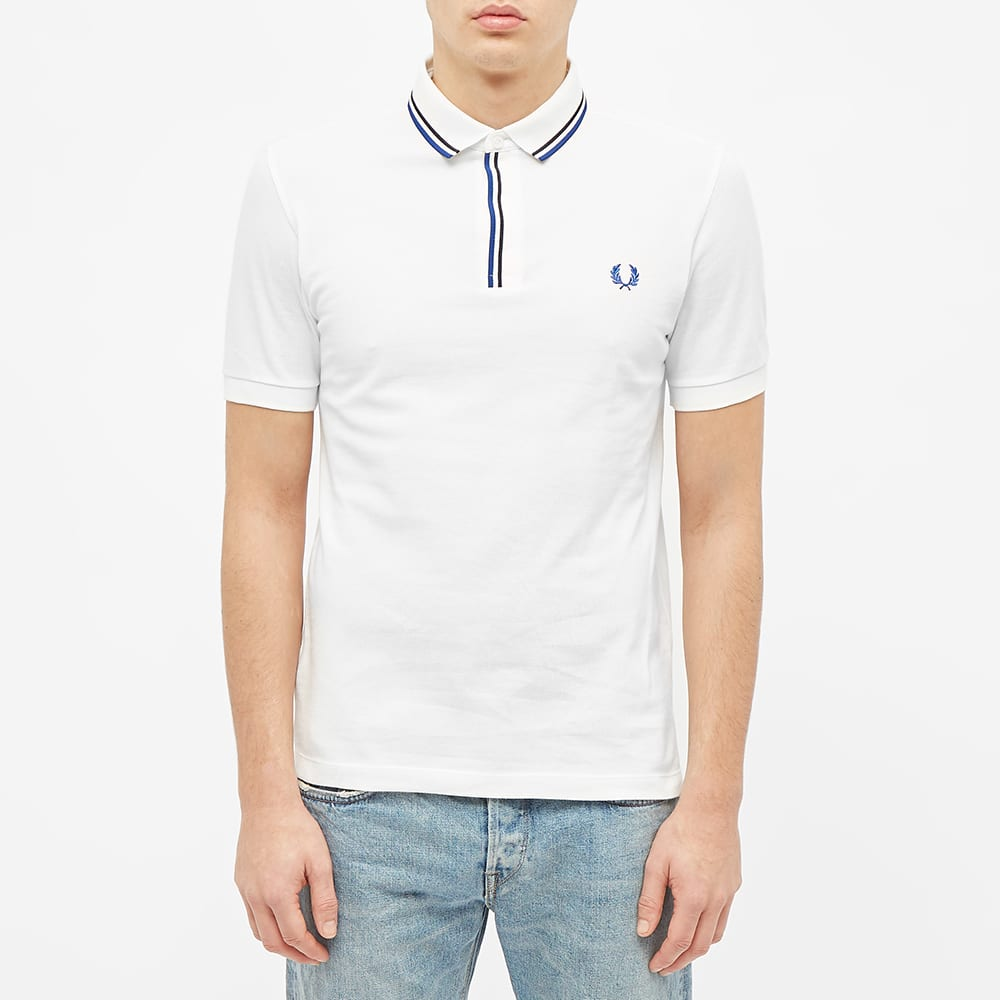 Fred Perry Tipped Placket Polo - Snow White