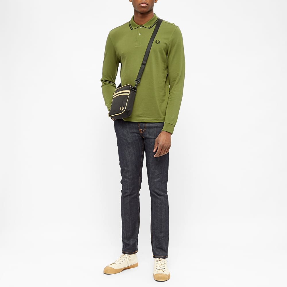 Fred Perry Twin Tipped Side Bag - Black & Champagne