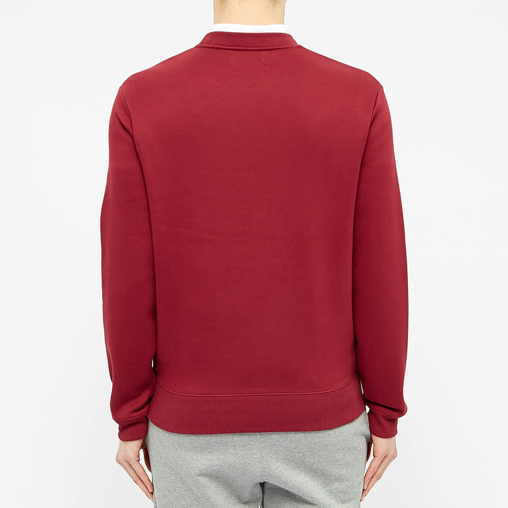 Fred Perry Embroidered Logo Crew Sweat - Tawny Port