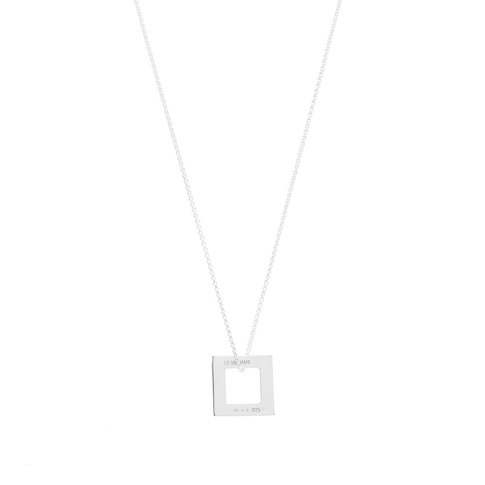 Le Gramme Slick Pendant Necklace - Silver 2.9g