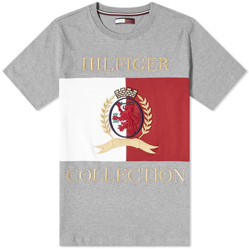 Hilfiger Collection Crest & Flag Tee - Silver Fog
