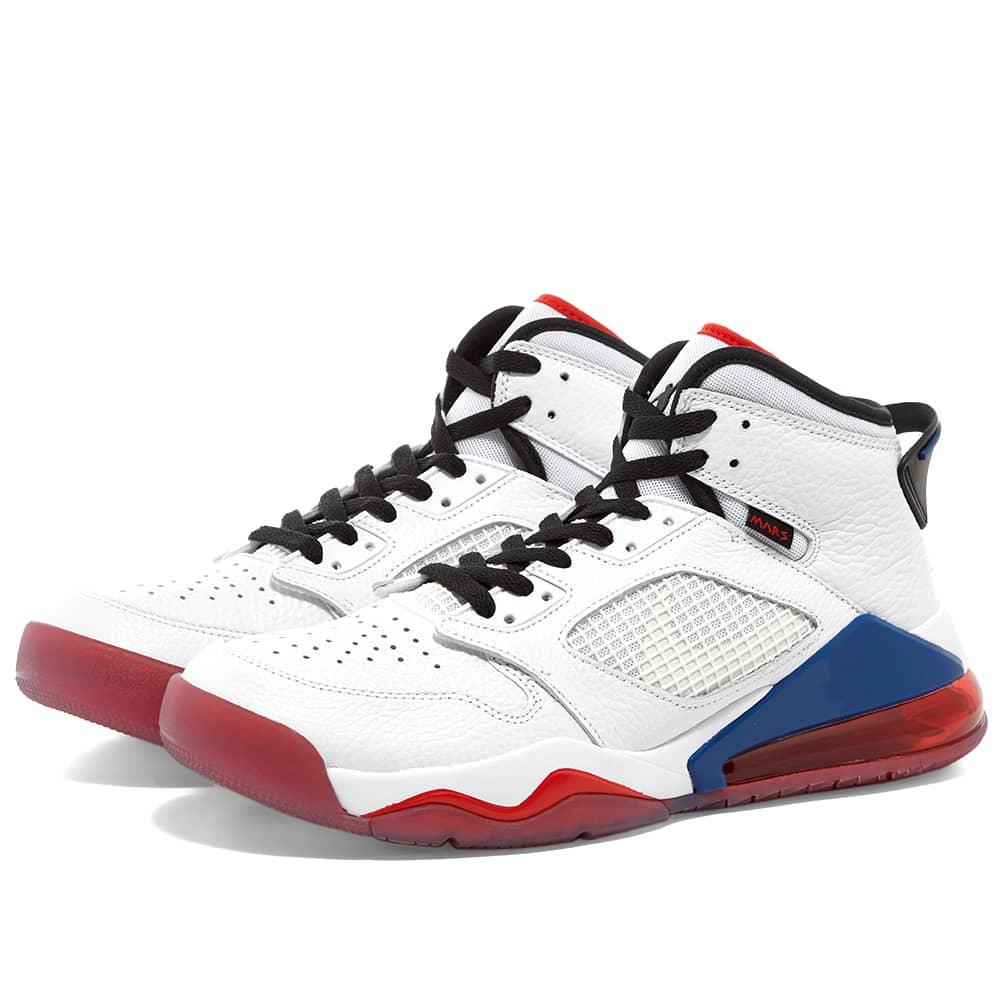 Air Jordan Mars 270 White, Red \u0026 Blue