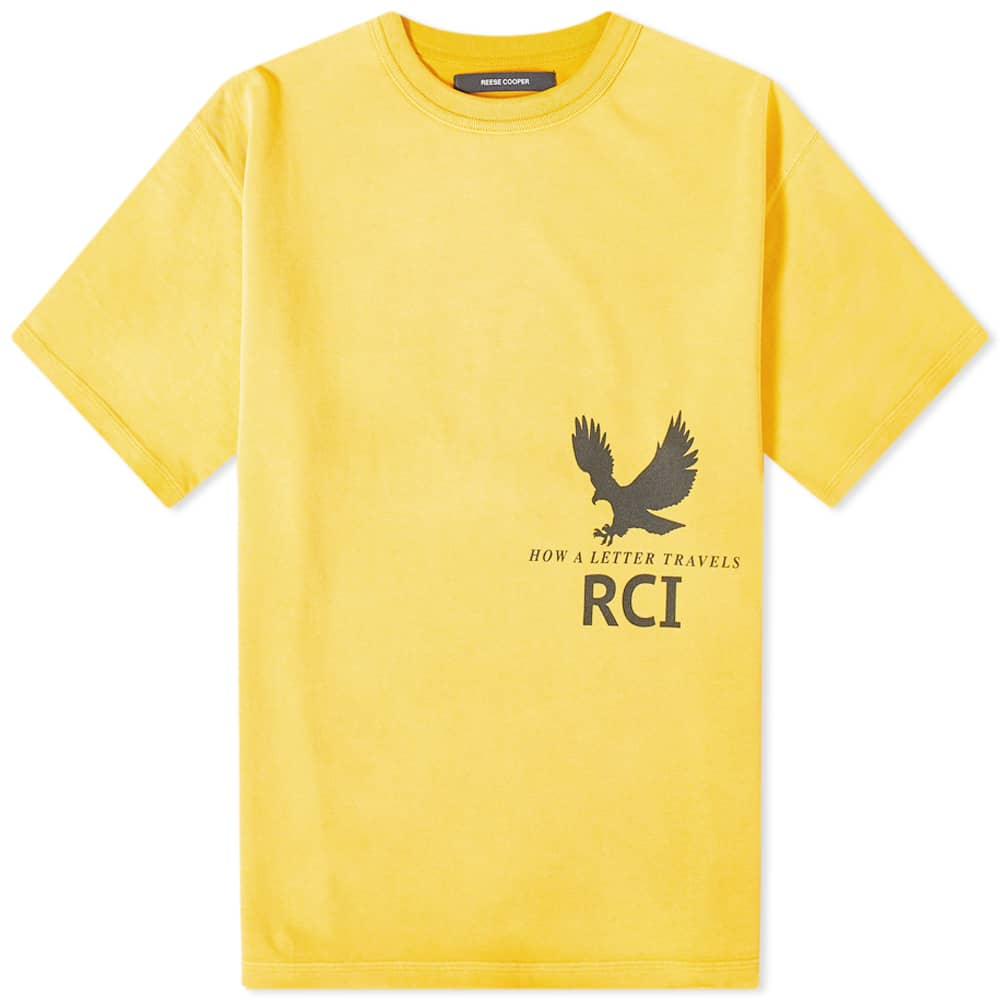 Reese Cooper Post Office Directory Aged Tee - Yellow