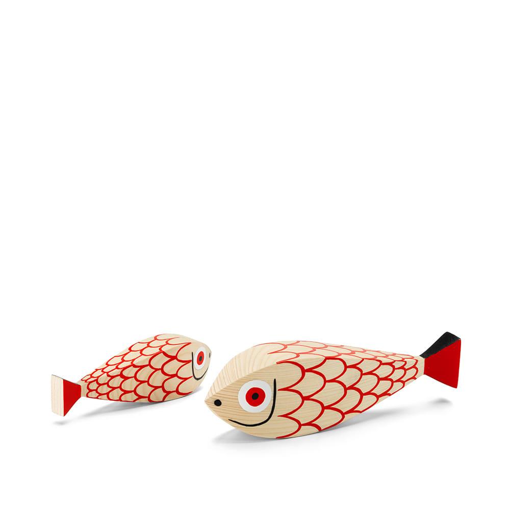 Vitra Alexander Girard 1952 Wooden Doll Fish - Red