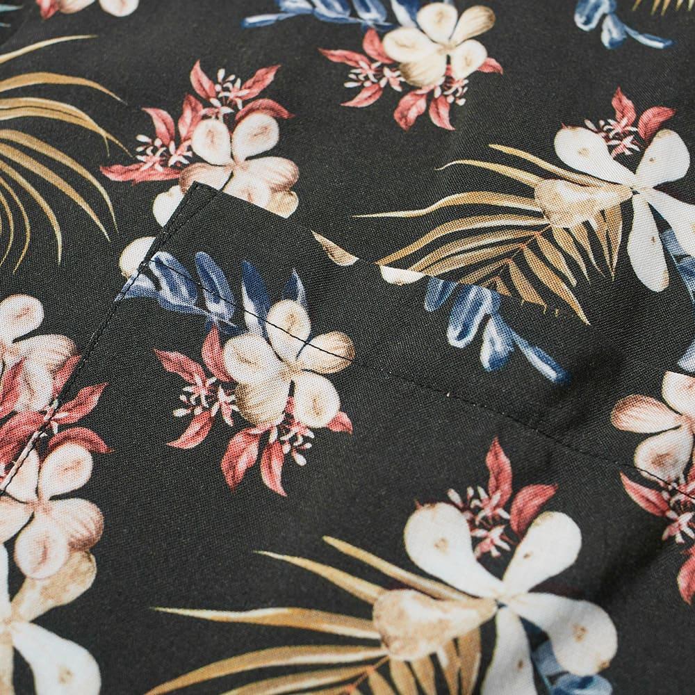 Portuguese Flannel Tropical Fruit Vacation Shirt - Black